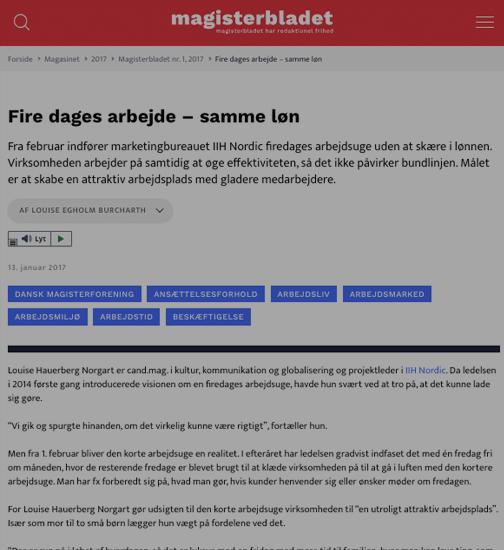 Artikel fra Magisterbladet